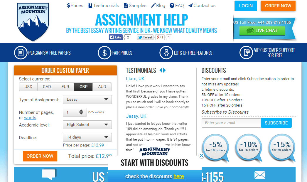 AssignmentMountain Review Screen by TopWritersReview