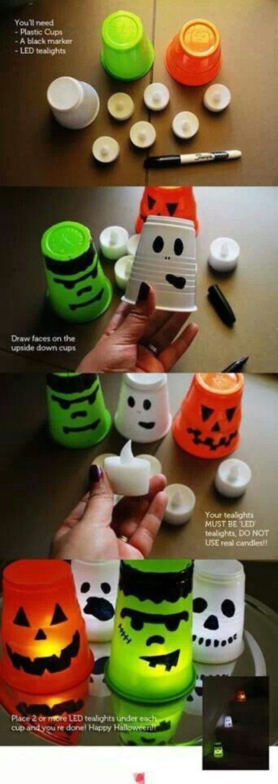 The best diy halloween decorations tealights solutioingenieria