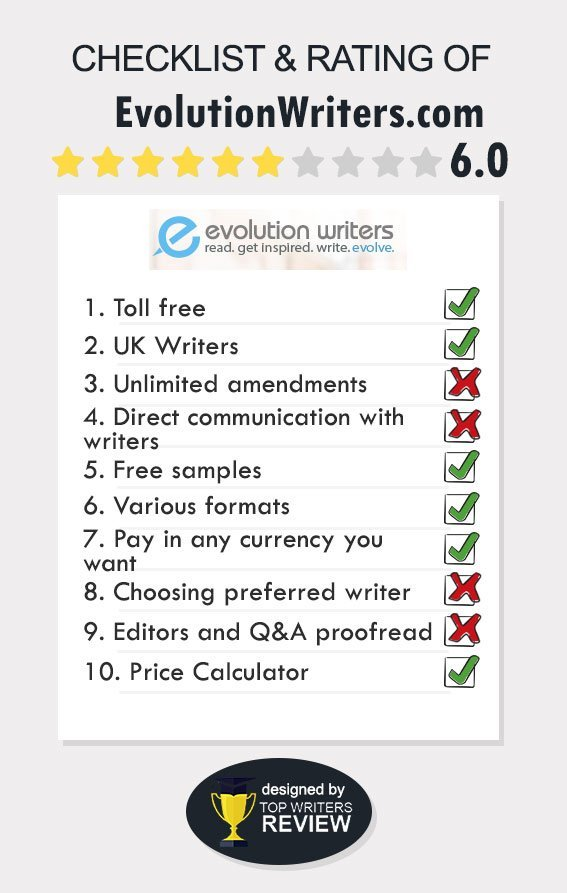 Review of Evolutionwriters by TopWritersReview