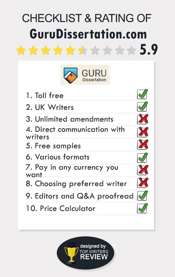 Review of GuruDissertation by TopWritersReview