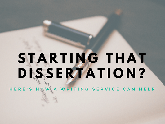 Start the dissertation correctly