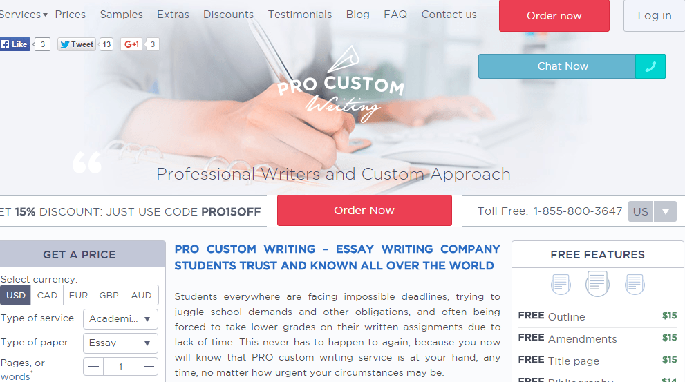 ProCustomWriting app review